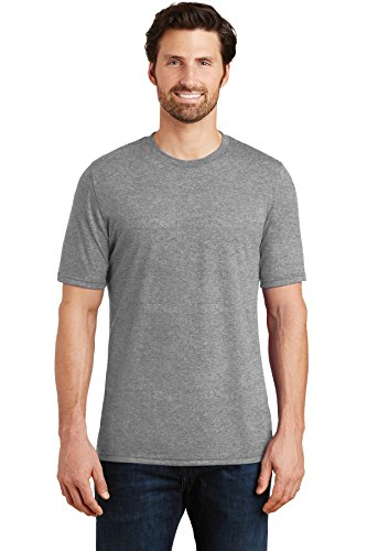 District Made Men's Perfect Tri Crew Tee DM130 Grey Frost -