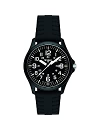 Traser Office Pro, Silicone with safety clasp Strap, Black, 42mm, 107103