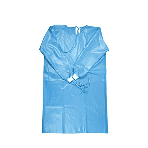 Non Clothing Costumes (Aspire Pack of 6 Disposable Painters Coveralls Non Woven Plastic Film Protective Gown Party Costumes-Blue-XXL)