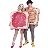 2pcs/Set Women Men Costume Couple Dress Jam Food Halloween Outfit Set Gift