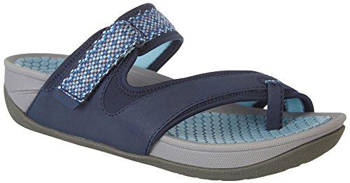 Baretraps Dames Denni Slide Sandaal Marineblauw