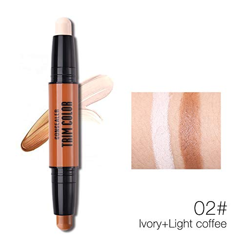 Double Ended Highlighter Bronzers Stick Makeup 3D Face Waterproof Creamy Concealer Highlighting Contour