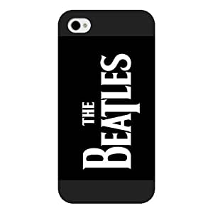UniqueBox - Customized Black Frosted iPhone 4/4s Case, Popular Band The Beatles iPhone 4s case, Popular Band The Beatles iPhone 4 case