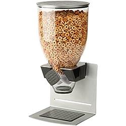 Zevro KCH-06147 Indispensable Premier Designer Dry Food Dispenser, Single Control, Stainless Steel, Silver/Black