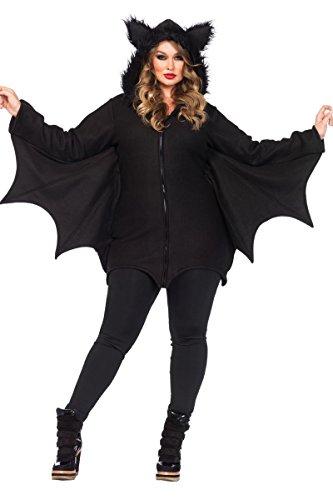 Ladies Cozy Bat Zipper Dress (3XL/4XL) (Adult Bat Wings)