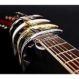 Shark, Folk Guitar Capo, Acoustic Guitar Capo, Capo, zinc Alloy Sound Clip, Electric Guitar and Ukulele (Silver)