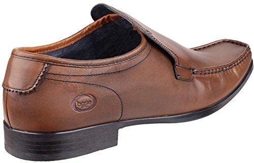 Base London Carnoustie Tan Cuir Hommes Slip-ons Chaussures