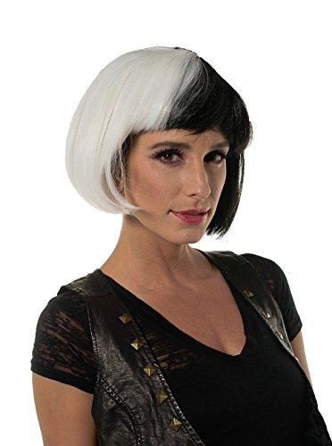 Halloween Cosplay Black and White Diva Party Wig Cruella Dr. Black Style H0288