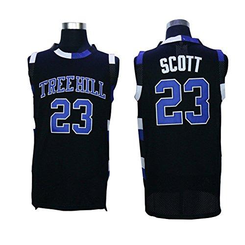 Janniffer Mens Scott 23 One Tree Hill Ravens Movie Basketball Jersey Stitched Black M (Ravens Jersey Kids)