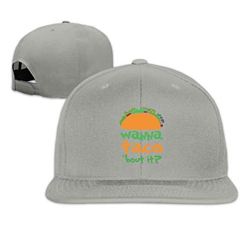 ONE-HEART HR Baseball Cap Wanna Taco Bout It Adjustable Custom Flat Peaked Hat Unisex