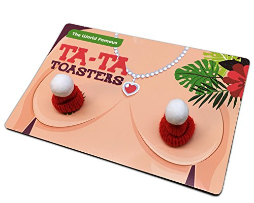 Ta-Ta Toasters - Funny Novelty Gift for Women Naughty Stocking Stuffers Gag Gifts for Girl Friends BFF Gifts for Ladies Funny White Elephant Idea Chest Warmers Hooter Heaters Tata Toasters