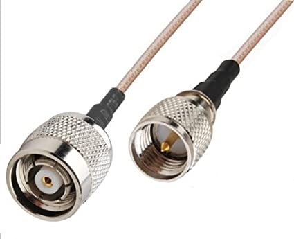 RF coaxial coax cable assembly MINI-UHF male to RP-TNC male 12