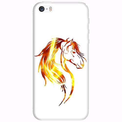 Coque Apple Iphone 5-5s-SE - Tête cheval tribal Feu