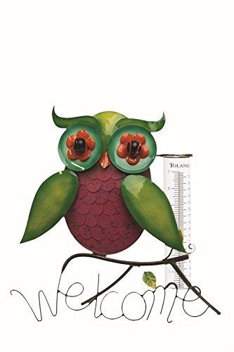 Toland Home Garden Rainbow Owl DecorativeOutdoor Tableto...