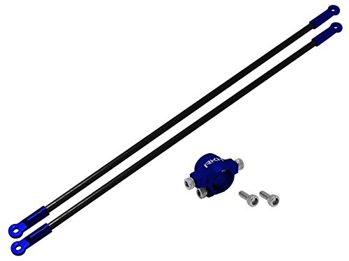 - Rakonheli CNC AL Tail Boom Support Set (Blue) - Blade 130S