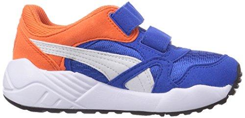 Puma XS 500 Kids - zapatilla deportiva de material sintético infantil azul - Blau (strong blue-white-nasturtium 05)