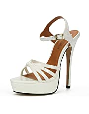 MAIERNISI JESSI Unisex Men's Women's Flatform Stiletto High Heel Strapy Slingback Sandals
