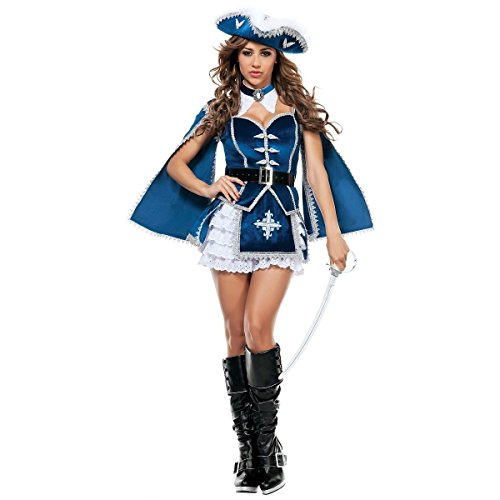 All For You Musketeer Costume - Small - Dress Size 2-4