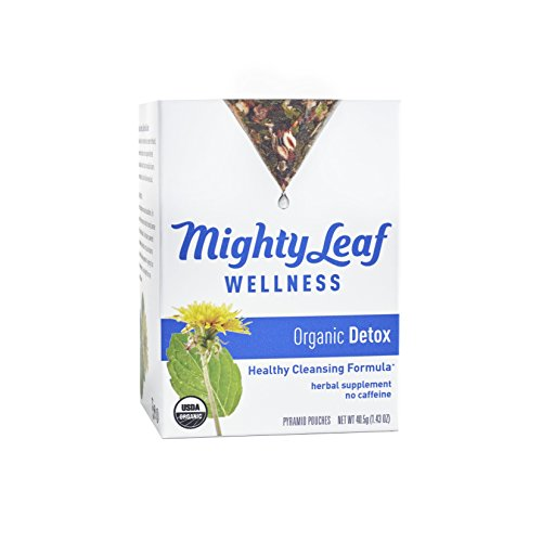 - Mighty Leaf Tea Wellness Organic Detox With Dandelion and Burdock Root, 15 Ct