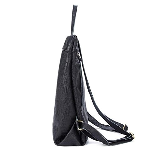 SHOUTIBAO student Shoulder bag Lady a scuola viaggio double 3 Leather 1 backpack fashion leisure bag andare q8wrt8nB