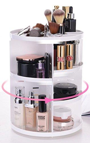 【TohoRyu】 化粧品収納ボックス たっぷり収納 コスメボックス 360度回転式 メイク 収納