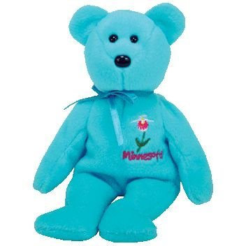 (1 X TY Beanie Baby - MINNESOTA LADY'S SLIPPER the Bear (Show Exclusive) by BabyCentre)