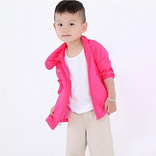 Lightweight Jacket UV-resistant Windbreaker Skin Coat Quick Dry Windproof Skin Coat TTL027 Rose 110cm