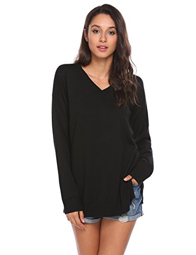 Cotton V-Neck Sweatshirt - 5