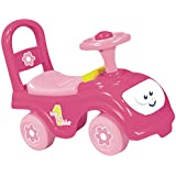 Dolu Childrens Kids Infants Girls My First Pink Ride On Push Along Car Vehicle