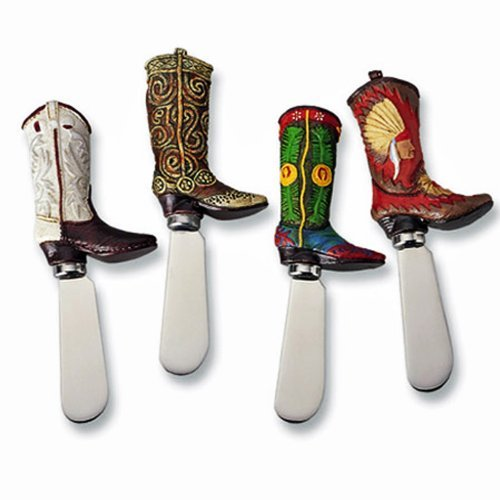 Supreme Housewares - Cowboy Boot Knife Cheese Spreaders - Set of - Boot Texas Knife