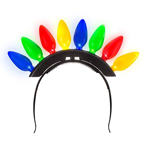 Santa Mohawk - Windy City Novelties Christmas Light Bulb Headband for Ugly Christmas Xmas Party Kids & Adults