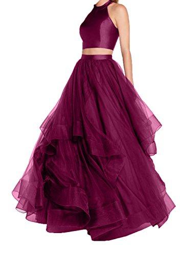 Dunkel Quincenera Fuchsia 2018 A Linie Violett Prinzess Tuell Ballkleider Abendkleider Neu Promkleider Damen Charmant Abschlussballkleider RUqw61WFOU