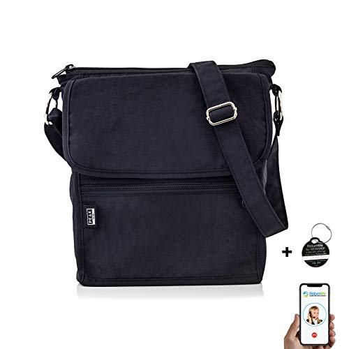 Theft Anti Bag Shoulder (Travel Crossbody Purse - Hidden RFID Pocket - Includes Lifetime Lost & Found ID)