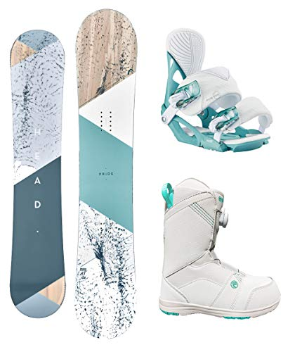 Flow Head Pride 147cm Women's Snowboard Package Matching Bindings BOA Boots