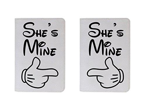 Cream Cookies - Couple passport Cover - She's mine - She's mine - Quotes by Cream Cookies