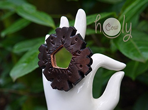 Adjustable Leather Ring With Mirror - Mirror Thai
