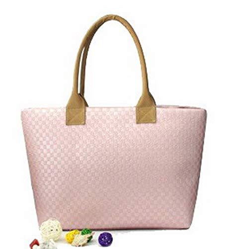 Borse Arrancio GMMBA182083 Borse Vacanze Donna Chiaro tracolla AgooLar Rosa Treccia Moda a Luccichio qtvwzU