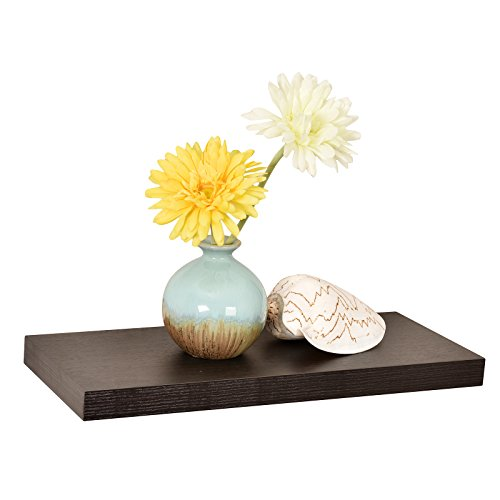 WELLAND Simons Floating Wall Shelf, 18-Inch, Espresso