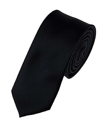 "Men's Solid Color 2"" Skinny Tie- Black"