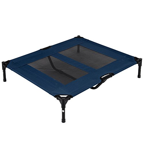 LazyDaze Hammocks Pet Bed Durable Powder Coated Steel Frame 600D PVC Oxford Fabric With Textliene Net Free Size 31278inch (Coated Net)