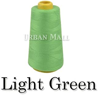 product image for 6000 Yards Light Green Sewing Thread All Purpose 100% Spun Polyester Spools Overlock Cone (Upholstery, Canvas, Drapery, Beading, Quilting)