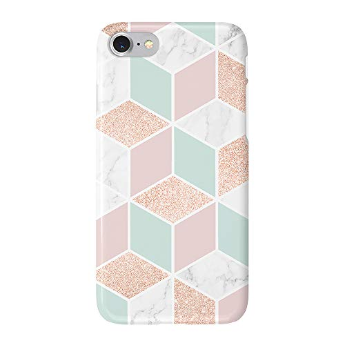 uCOLOR Case Compatible with iPhone 6S 6 iPhone 8/7 Cute Protective Case Rose Gold Sparkle Mint Green White Marble Slim Soft TPU Silicon Shockproof Cover Compatible iPhone 6s/6/7/8(4.7
