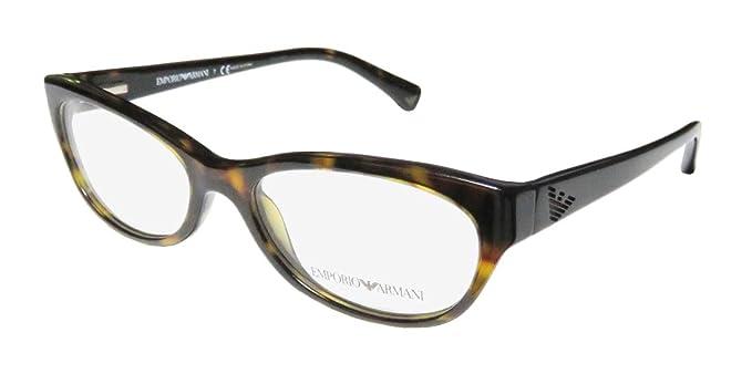 99522336f7 Amazon.com  Emporio Armani Eyeglasses EA3008 - 5026 Dark Havana w ...