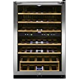 Frigidaire 38 Bottle Two-zone Stainless Steel Wine Cooler - FFWC3822QS