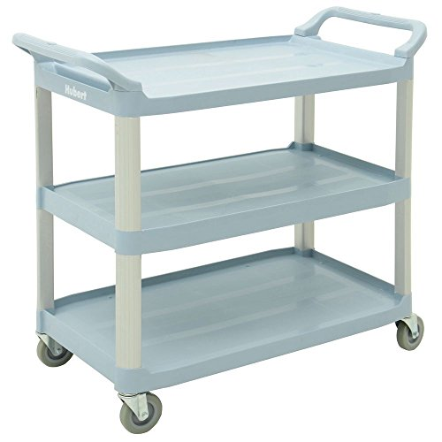 Serving Cart 33''L x 16 13/16''W x 37''H Plastic And Aluminum Grey - HUB-93163 by Miller Supply Inc