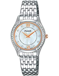 Pulsar Women's Quartz Brass and Stainless Steel Dress Watch, Color:Silver-Toned (Model: PM2235)