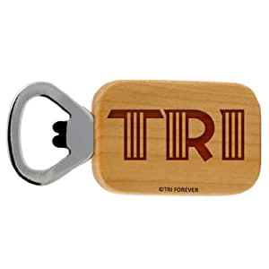 Gone For a Run TRI Letters Maple Bottle Opener
