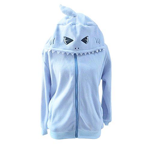 blue adult shark costume - 9