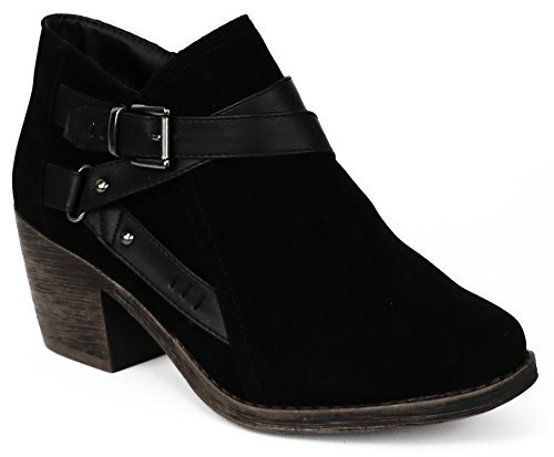 Chatties Women's Buckle Ankle Boot (10 B(M) US, Black)