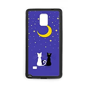 Eastar Note 4 Case,Protective Hard TPU Guard Case for SamSung Galaxy Note4,Sailor Moon Luna Cat